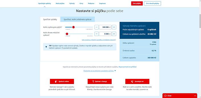 Žádost o půjčku od České spořitelny - 1. krok