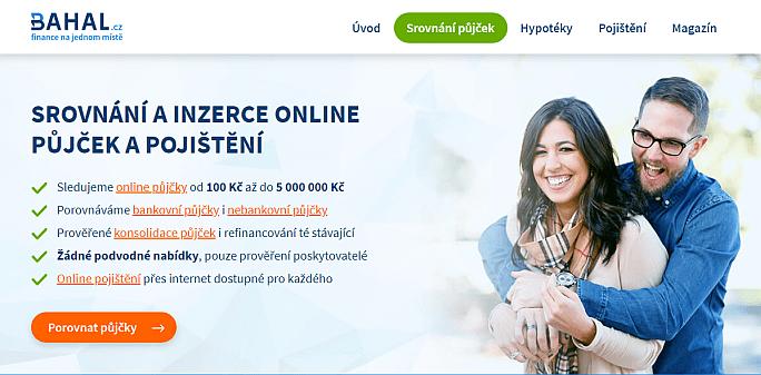 Půjčky a pojištění na jednom místě – to je katalog Bahal.cz