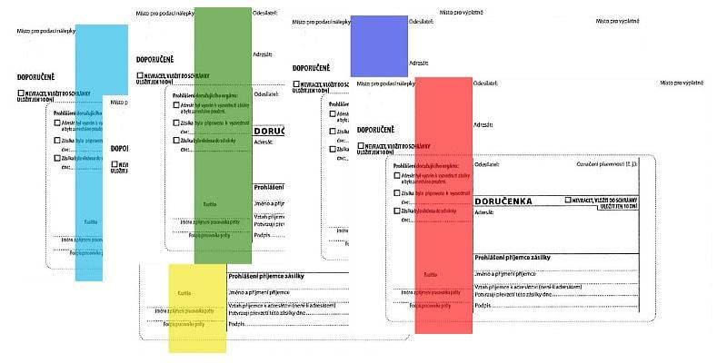 Co znamenají barevné pruhy u obálek?
